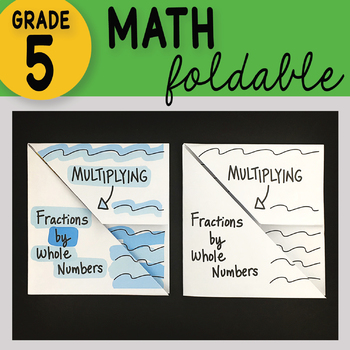 Multiplying Fractions by Whole Numbers Math Foldable
