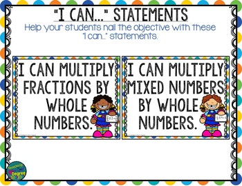 Multiplying Fractions by Whole Numbers-Task Cards