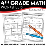 Multiplying Fractions by Whole Numbers Worksheets