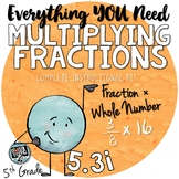 Multiplying Fractions by Whole Numbers and Mixed Numbers  TEKS 5.3I Resources