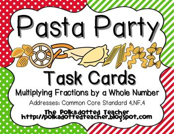 Multiplying Fractions by Whole Numbers task cards  Common Core 4.NF.4-