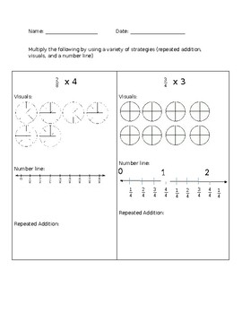 Multiplying Fractions by a Whole Number