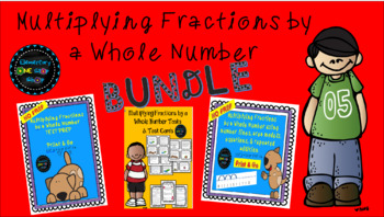 Multiplying Fractions by a Whole Number BUNDLE