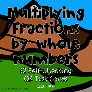 Multiplying Fractions by a Whole Number QR Task Cards