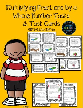 Multiplying Fractions by a Whole Number Tasks & Task Cards