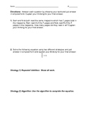 Multiplying Fractions by whole numbers Assessment and Rubric