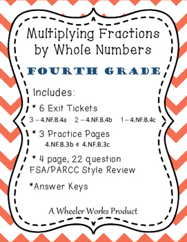 Multiplying Fractions for Fourth Grade: Exit Tickets, Prac