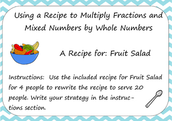 Multiplying Fractions in a Recipe