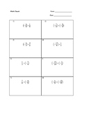 Multiplying Fractions practice problems