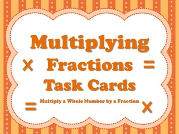 Multiplying Fractions (set of 32 cards aligned to TEKS 5.3