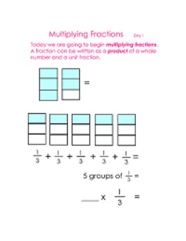 Multiplying Fractions with Bar Models