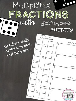Multiplying Fractions with Dominoes Activity
