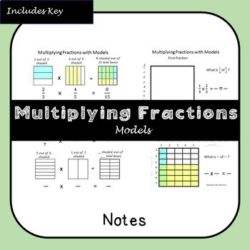 Multiplying Fractions with Models Notes