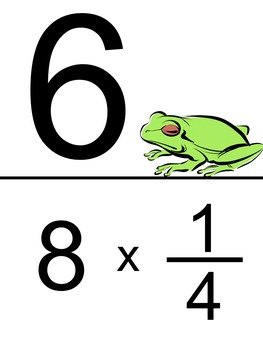 Multiplying Fractions and Whole Numbers Scavenger Hunt-Improper Fraction Answers
