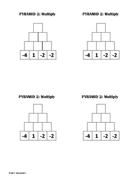 Multiplying Integer Pyramids