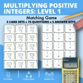 Multiplying Integers #1 Matching Game