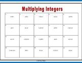 Multiplying Integers