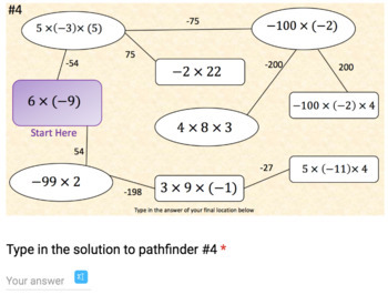 Multiplying Integers – 2 Google Form Activities – Perfect for Google Classroom