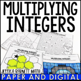 Multiplying Integers Resources - Lesson Bundle - Distance