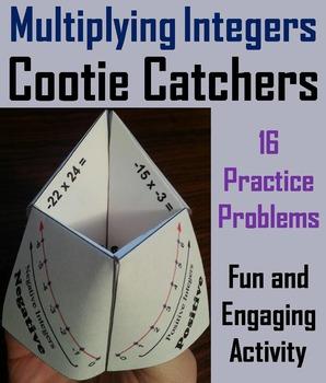 Multiplying Integers Practice/ Multiplying Integers Game 6