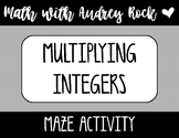 Multiplying Integers 7th Grade Math Maze Activity