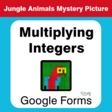 Multiplying Integers - Animals Mystery Picture - Google Forms