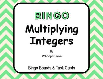 Multiplying Integers BINGO and Task Cards