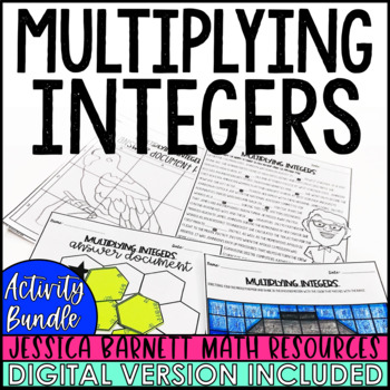 Multiplying Integers Activity Pack