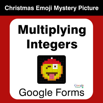 Multiplying Integers - Christmas EMOJI Mystery Picture - Google Forms