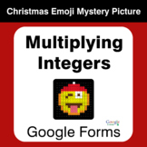 Multiplying Integers - Christmas EMOJI Mystery Picture - G