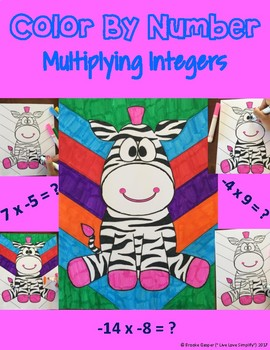 Multiplying Integers - Color By Number