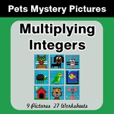 Multiplying Integers - Color-By-Number Mystery Pictures -