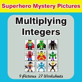 Multiplying Integers - Color-By-Number Superhero Mystery Pictures