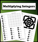 Multiplying Integers Color Worksheet