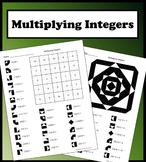 Multiplying Integers Color Worksheet