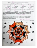 Multiplying Integers Color-by-Number Spider