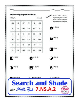 Multiplying Integers Coloring Search and Shade