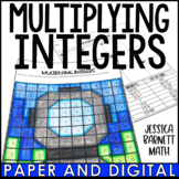 Multiplying Integers Coloring Page Activity