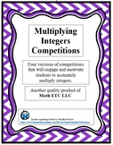 Multiplying Integers Competitions