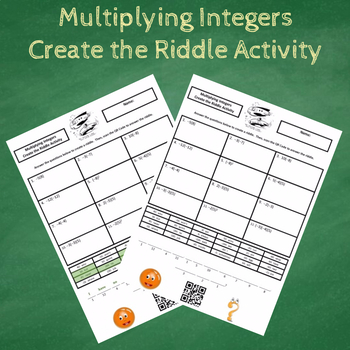 Multiplying Integers Create the Riddle Activity
