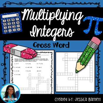 Multiplying Integers Crossword Puzzle