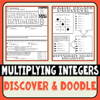 Multiplying Integers Discover & Doodle