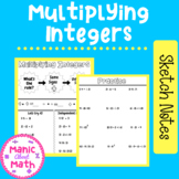 Multiplying Integers Doodle Notes