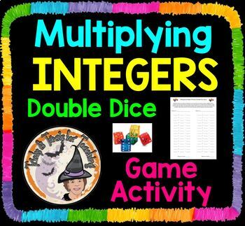 Multiplying Integers Double Dice Partners Game Multiply Integer Partner Activity
