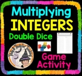 Multiplying INTEGERS GAME Double Dice Partners Activity