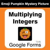 Multiplying Integers - EMOJI PUMPKIN Mystery Picture - Goo