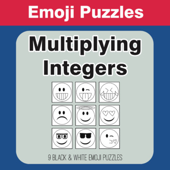 Multiplying Integers - Emoji Picture Puzzles