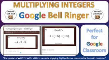Multiplying Integers – Google Bell Ringer with Student Feedback Option