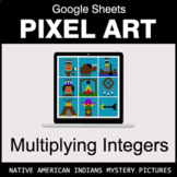 Multiplying Integers - Google Sheets Pixel Art - Native Am