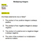 Multiplying Integers Group Work Lesson